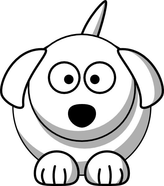 Cute animal outline png. Dog clip art at