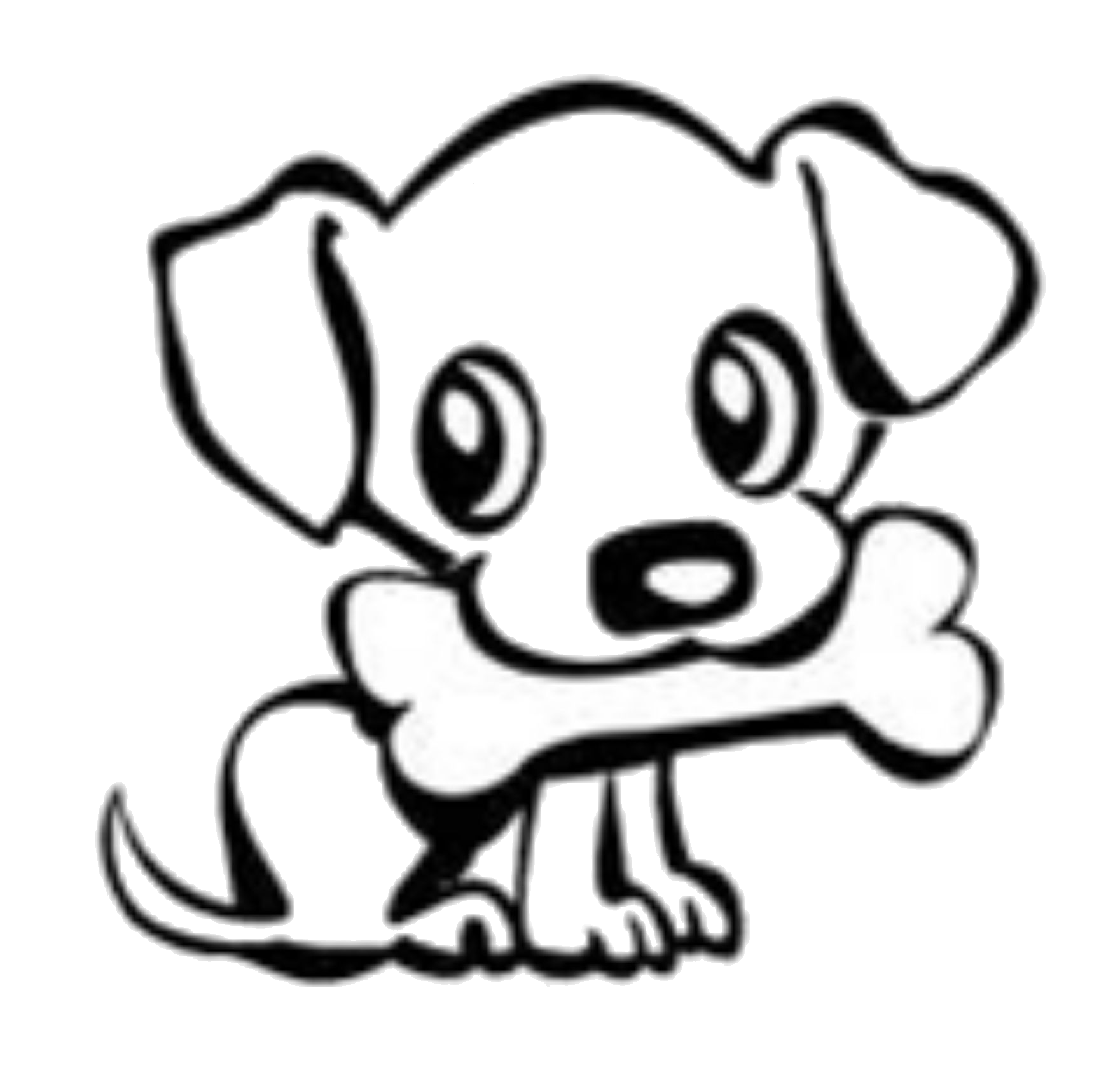 Cute animal outline png. Dog silhouette at getdrawings