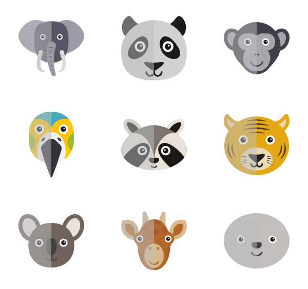 Cute animals png. Animal icon packs