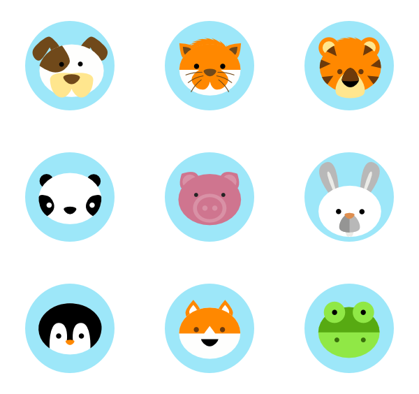 Cute animal png. Icon packs vector