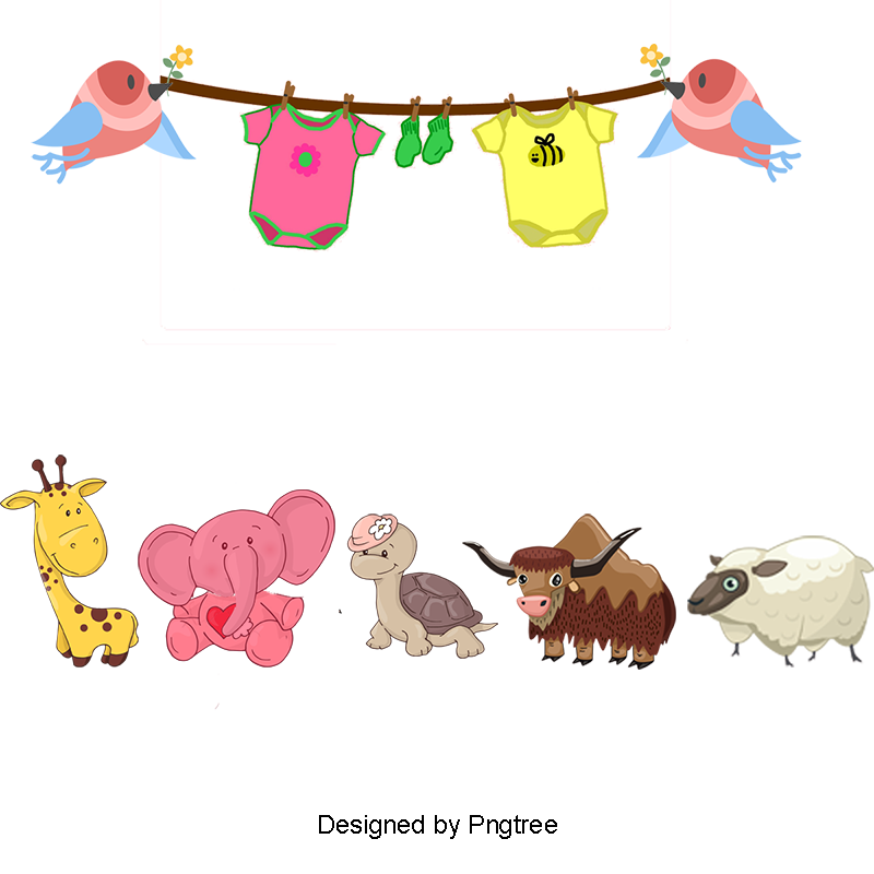 Cute animals png. Clipart animal cartoon and