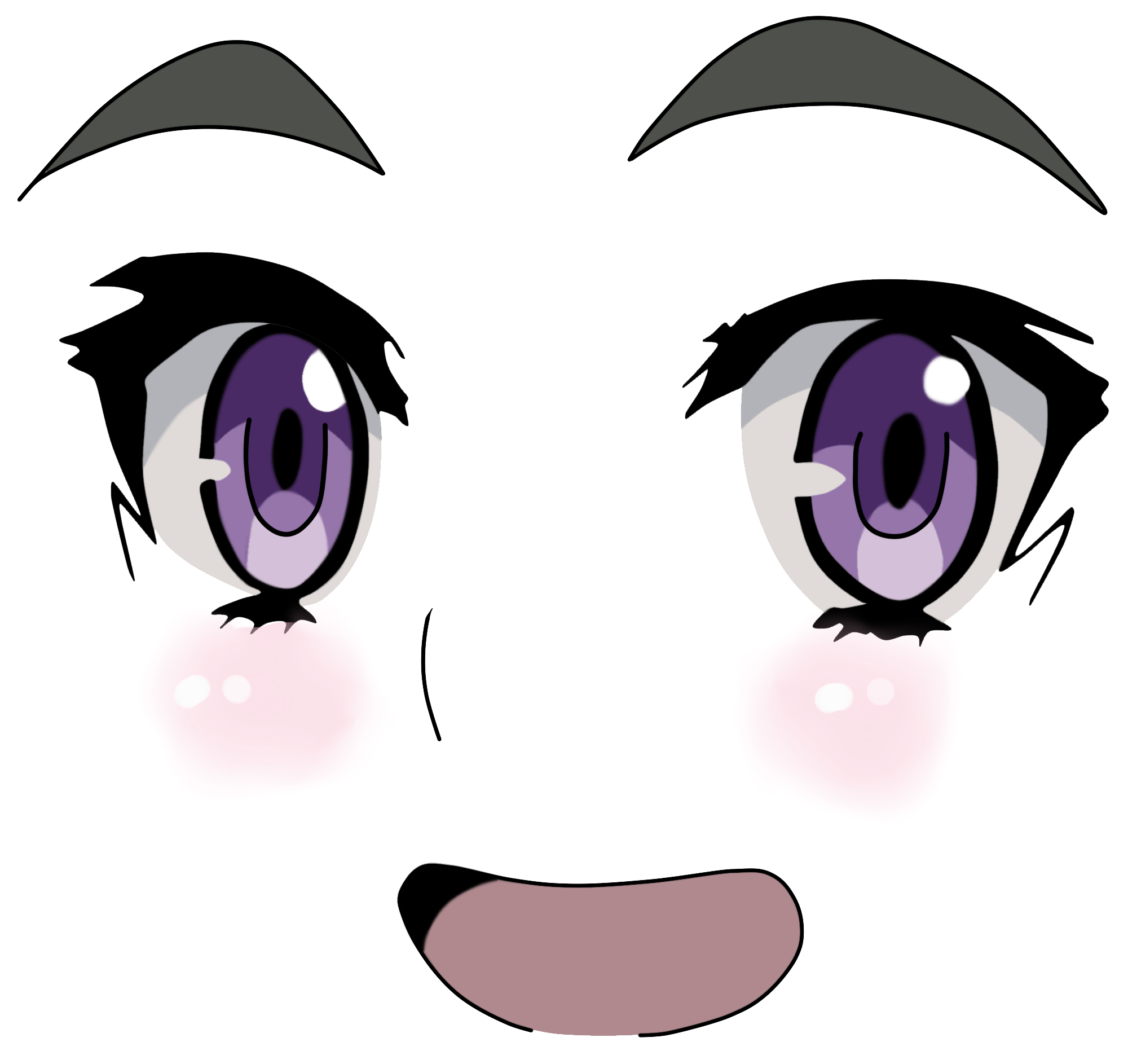 Cute images in collection. Kawaii anime eyes png svg library download