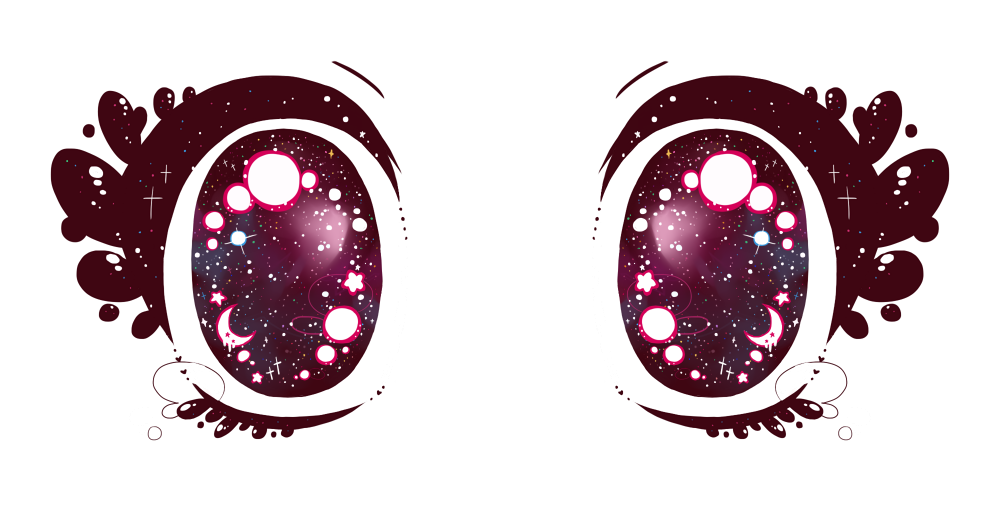 Kawaii eyes png. Transparent sparkley anime for