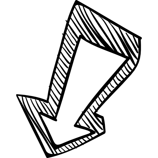 Cute arrow png. Down sketch free arrows