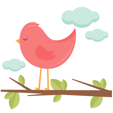 Cute bird png. In a tree svg