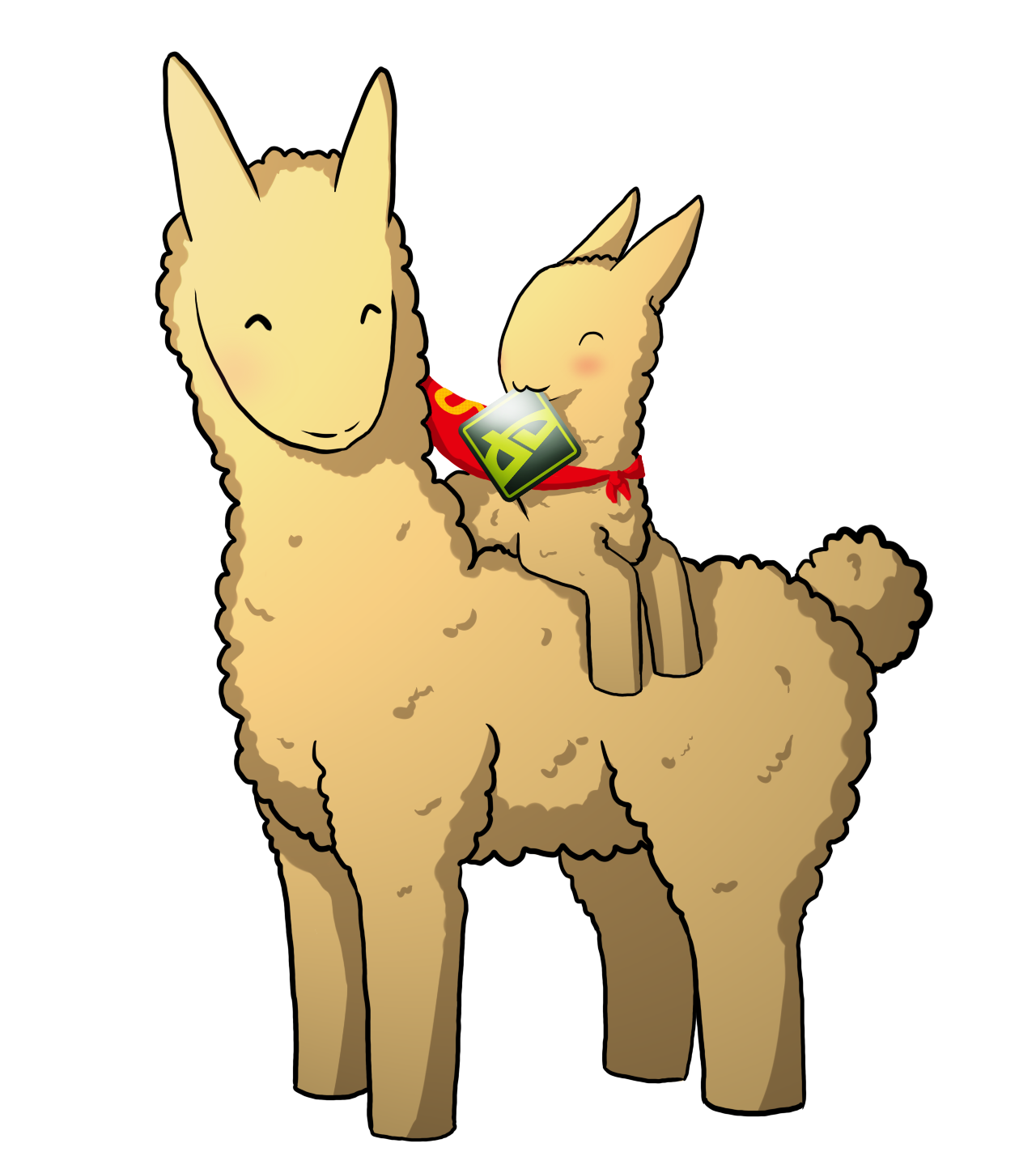 Cute cartoon llama png. Glomp x by a