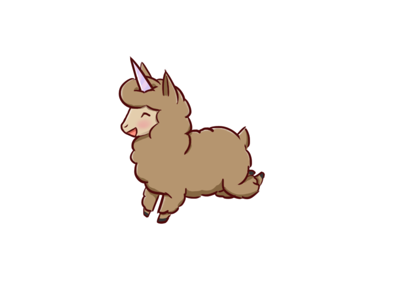 Cute cartoon llama png. Chibi unillama by blueoceaneyes