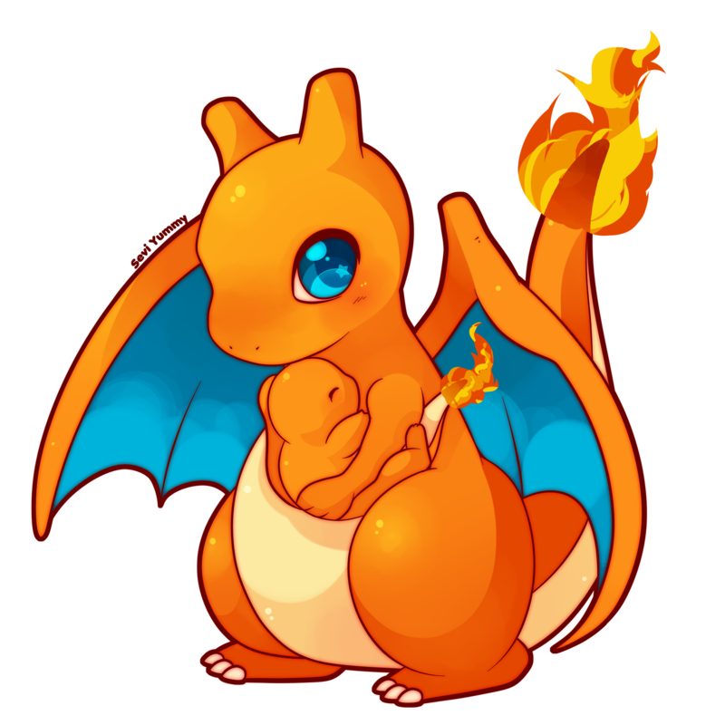 Cute charizard png. Chibi and charmander by