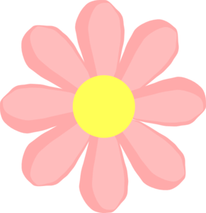 Flower pink clip art. Cute clipart vector black and white