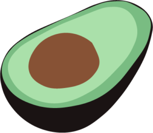 Cute clipart avocado. The smashed party a