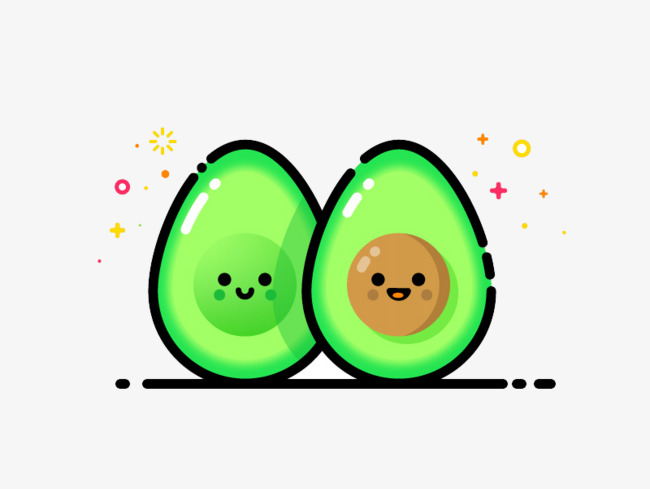 Cute clipart avocado. Element fruit green png