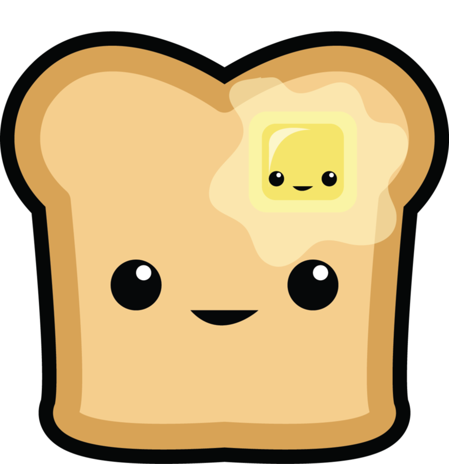 Animated butter png. And bread cartoon save