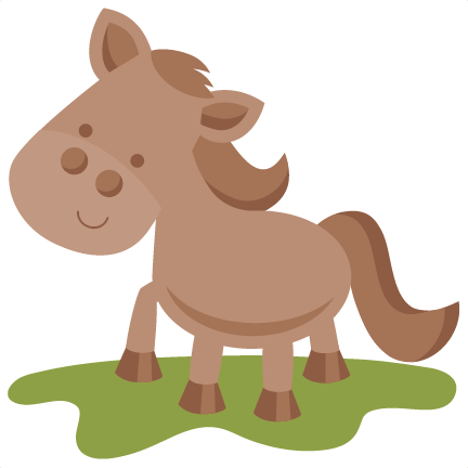 Cute clipart horse. Farm svg scrapbook cut