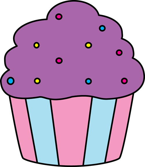 Cupcake clip art images. Cute clipart image black and white library