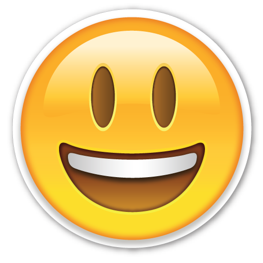 Cute confused sticker png. Smiling face with open