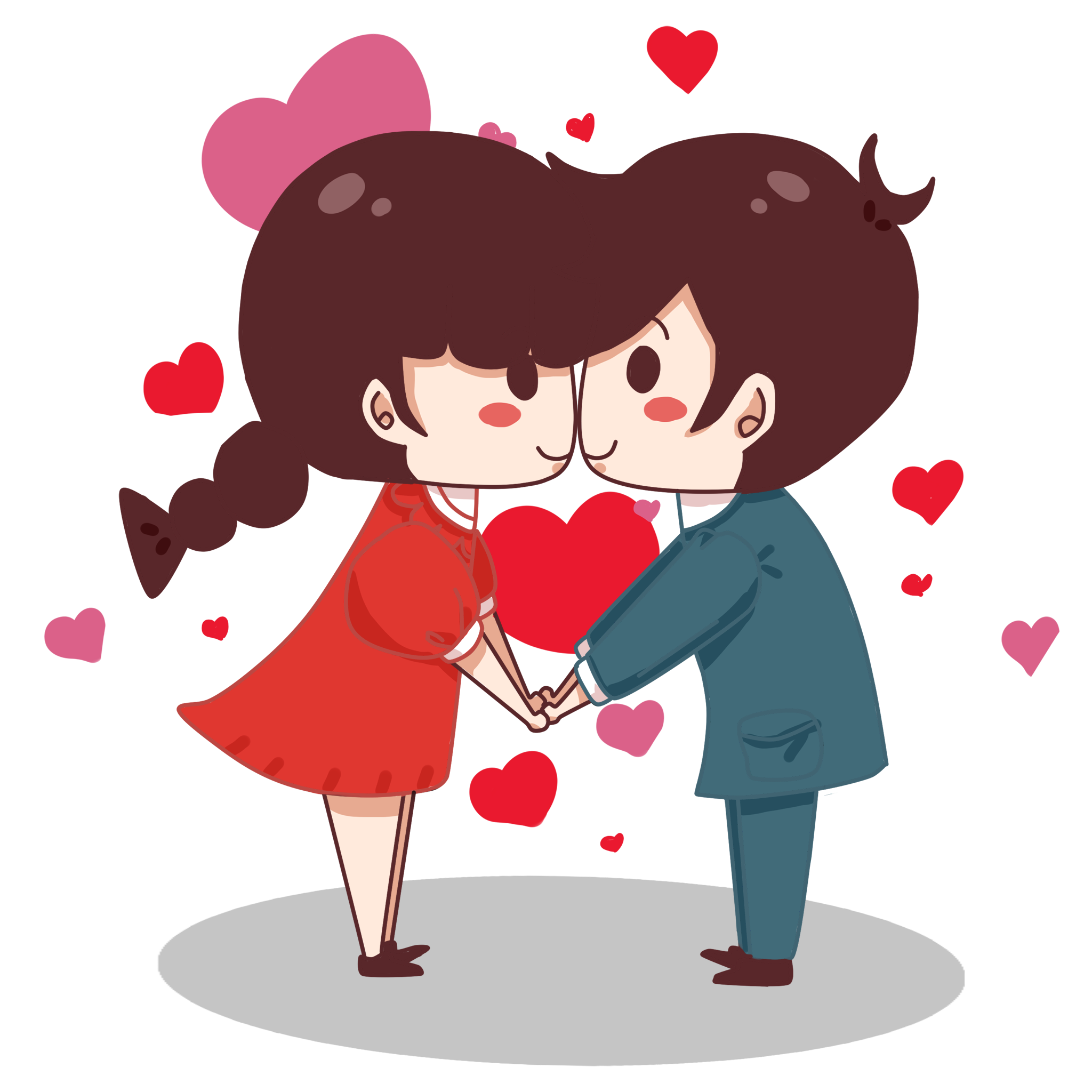 Cute couple png. Valentine s day little