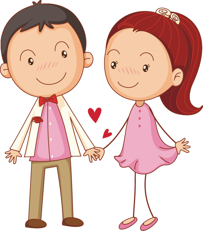 Cute couple png. Drawing illustration little transprent