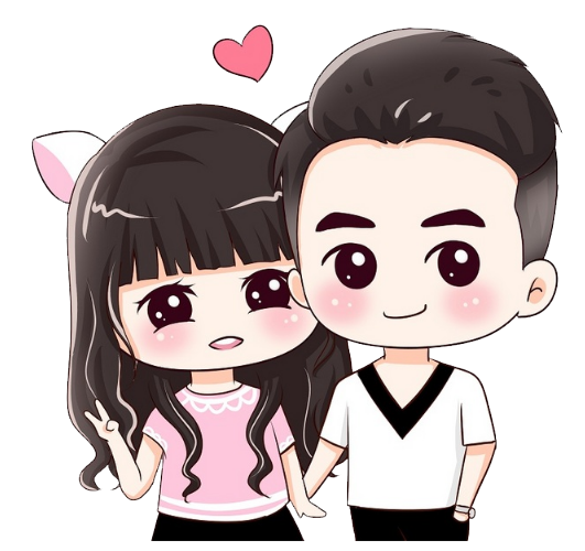 Cute couple png. Cartoon significant other q