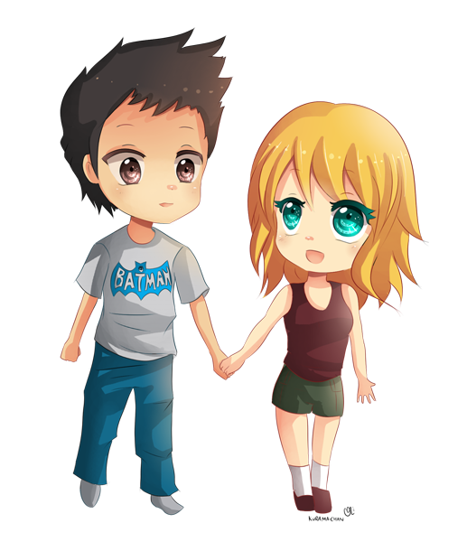 Cute couple png. Chibi commission for piper