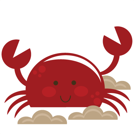 Cute crab png. Svg cut file for