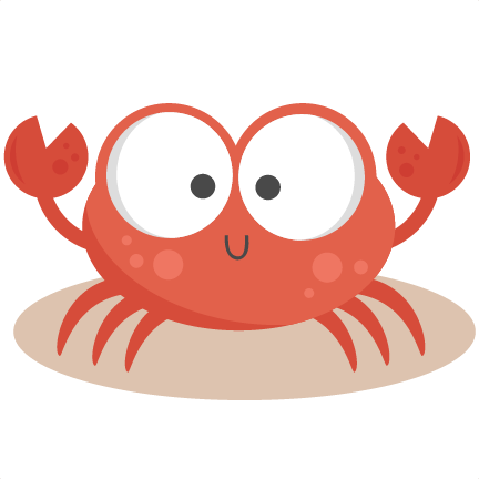 Cute crab png. Svg cutting files for