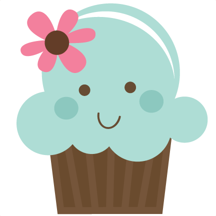 Cute cupcake png. Svg file for cards