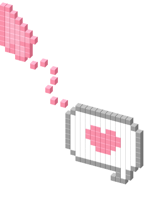 Cute cursor png. Pink message view on