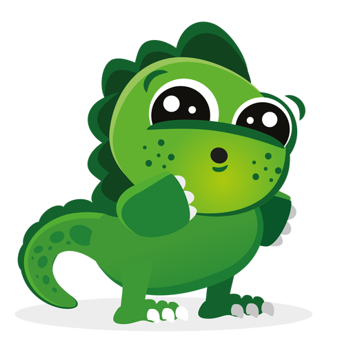 Dino svg animated. Cute baby character cartoon
