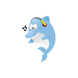 Cute dolphin png. Blue image royalty free