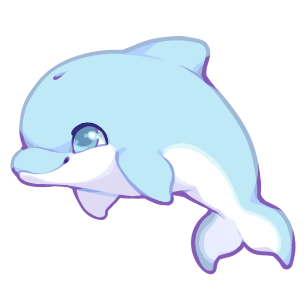 Cute dolphin png. By kakiwa on deviantart