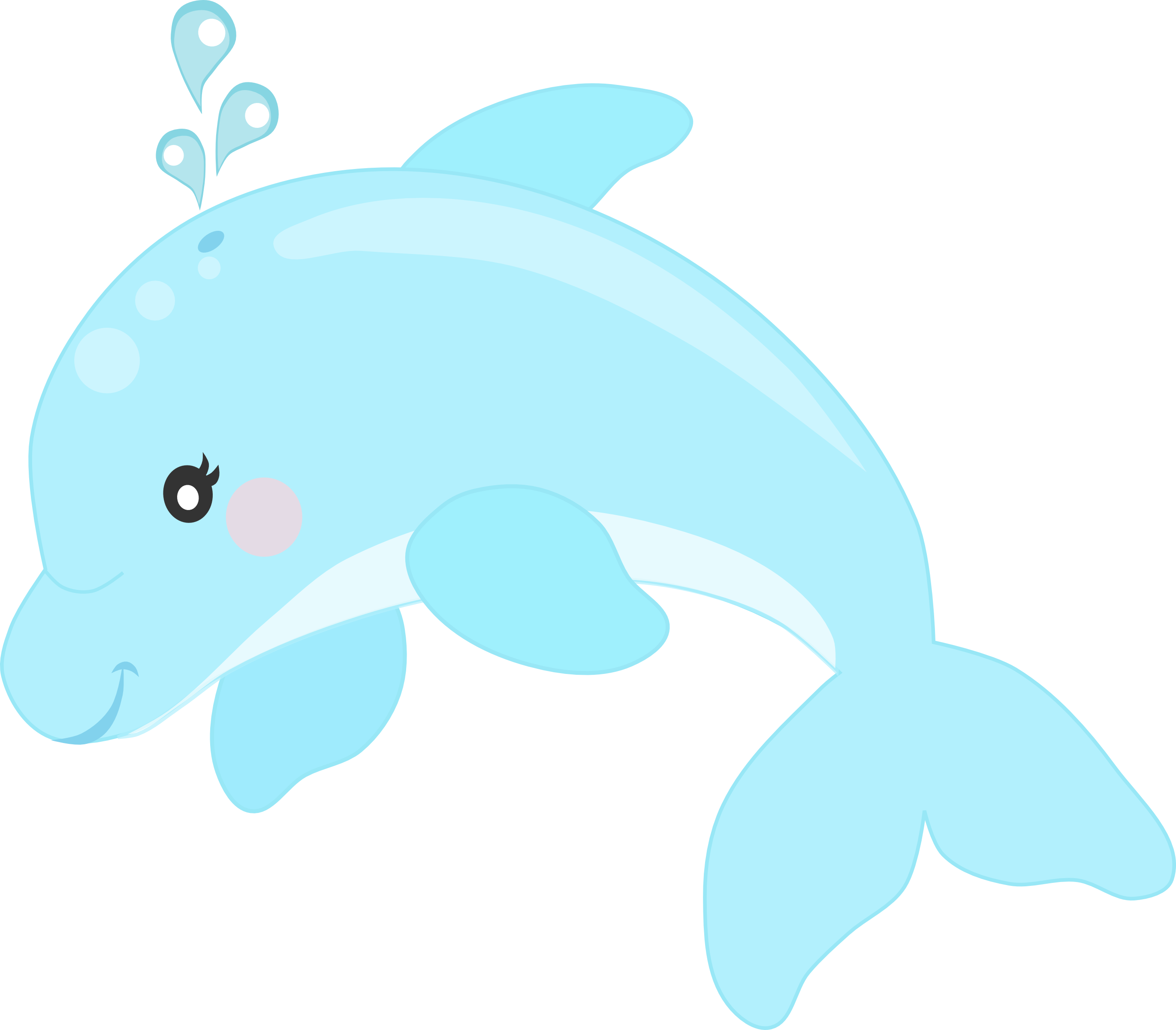 Cute dolphin png. Fundo do mar minus