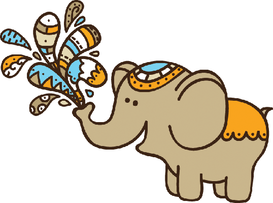 Cute doodle png. Elephant clipart the arts