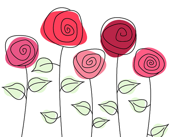 bookmark drawing rose