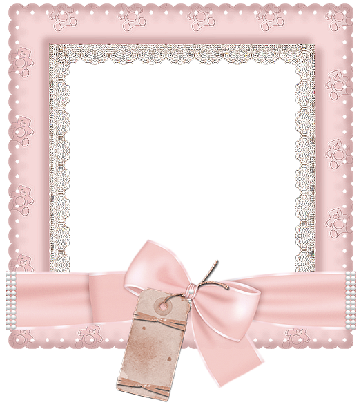 Pretty frame png. Cute pink transparent photo