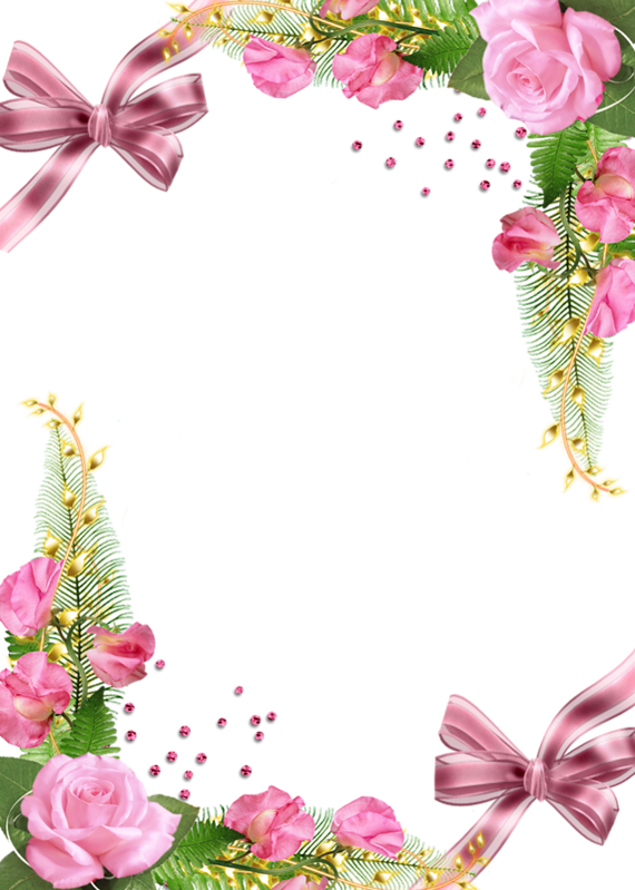 Cute frame png. Photo with pink roses