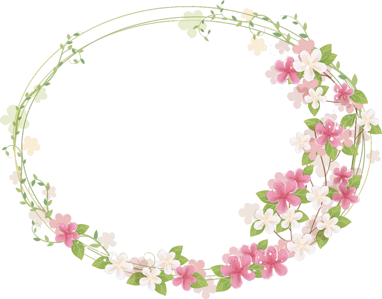 Cute frames png. Floral frame photos mart
