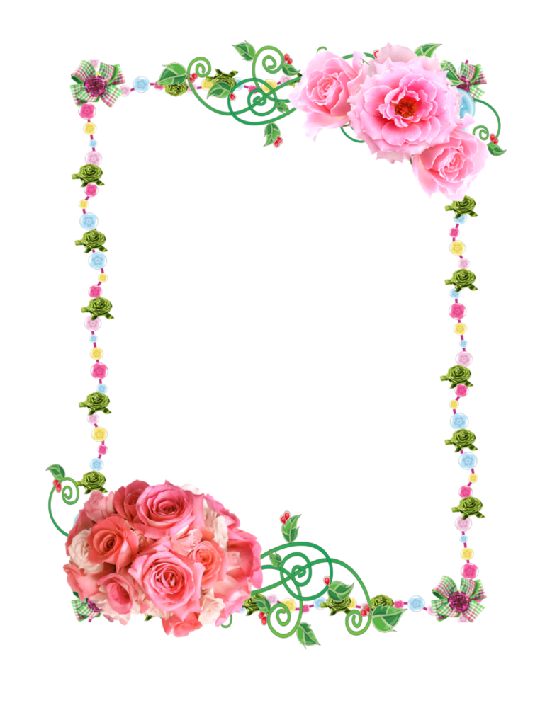 Pretty frame png. Free frames with roses