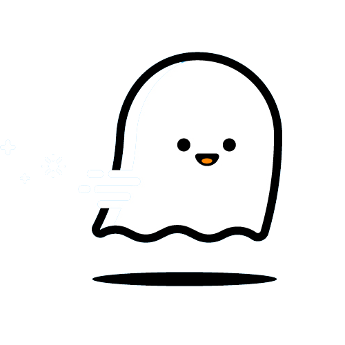 Cute ghost png. Icon lines transprent free