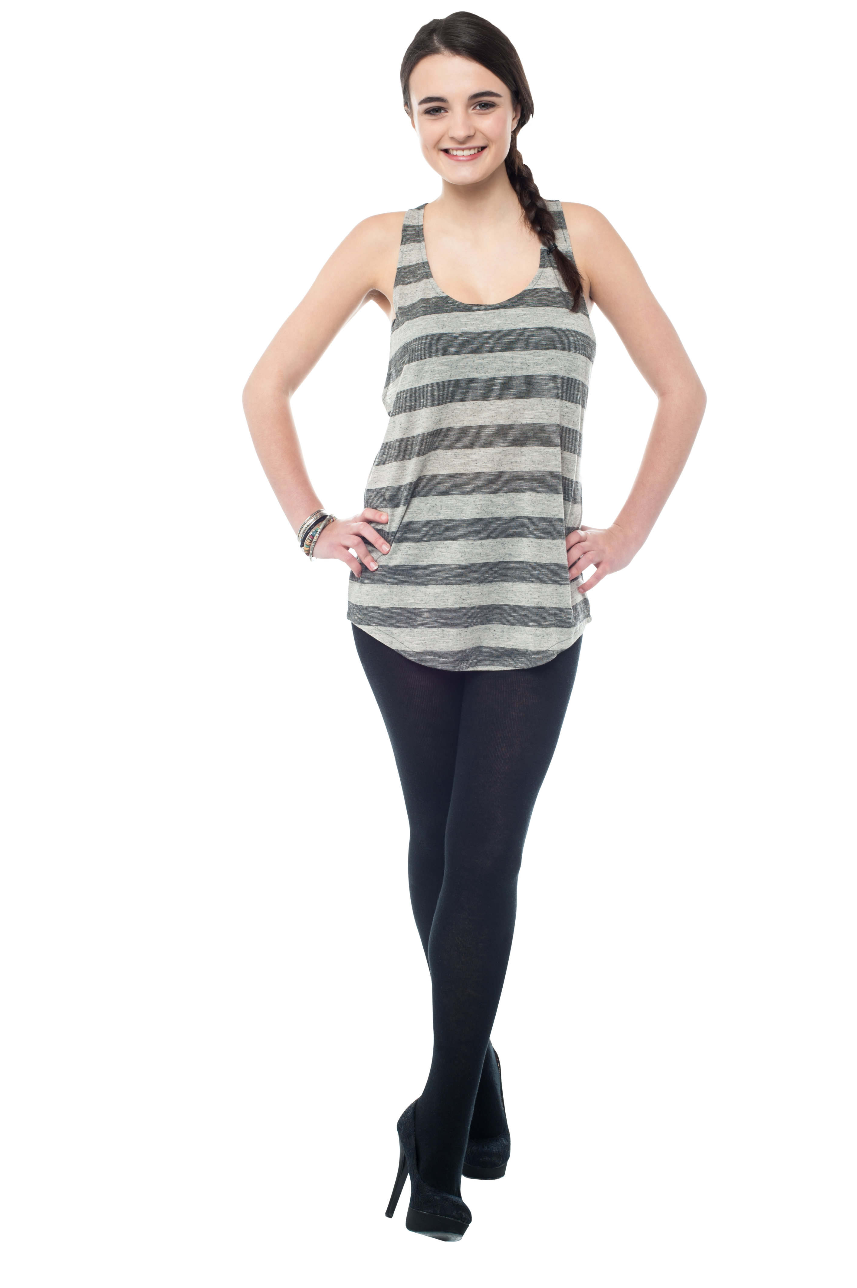 Girl standing png. Cute image purepng free