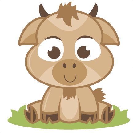 Cute goat png. Baby svg cutting file