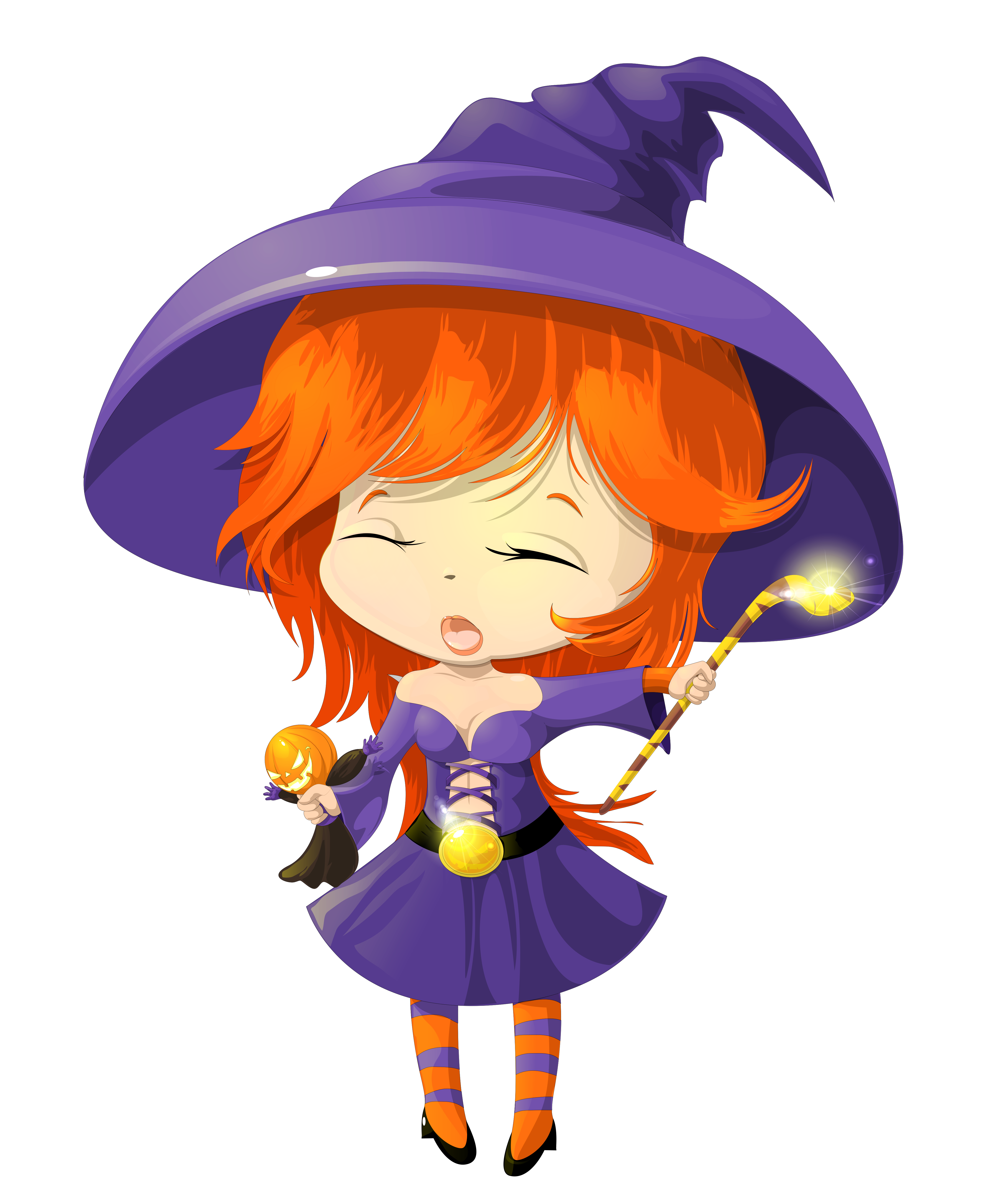 Cute halloween witch png. Purple transparent clipart gallery