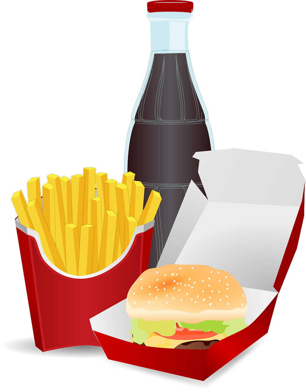 Cute hamburger and fries png. Clipart clip arts for