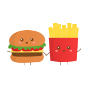Cute hamburger and fries png. Burger french who are