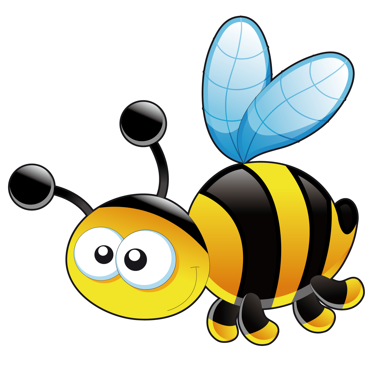 Cute honey bee png. Bumblebee clip art transprent