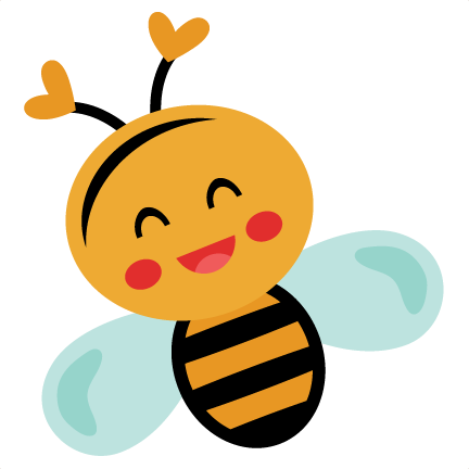 Cute honey bee png. Smiling svg scrapbook cut