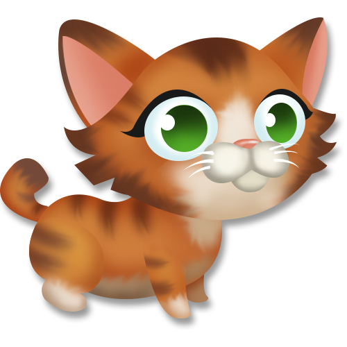 Cute kitten cartoon png. Image tabby hay day