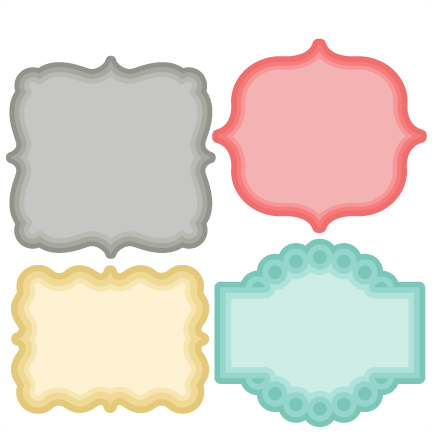 Cute labels png. Layered label set svg