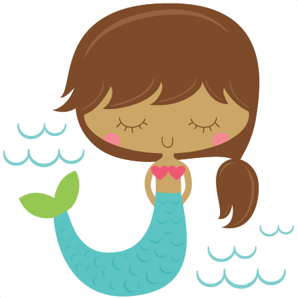 collection of clipart. Svg mermaid banner library