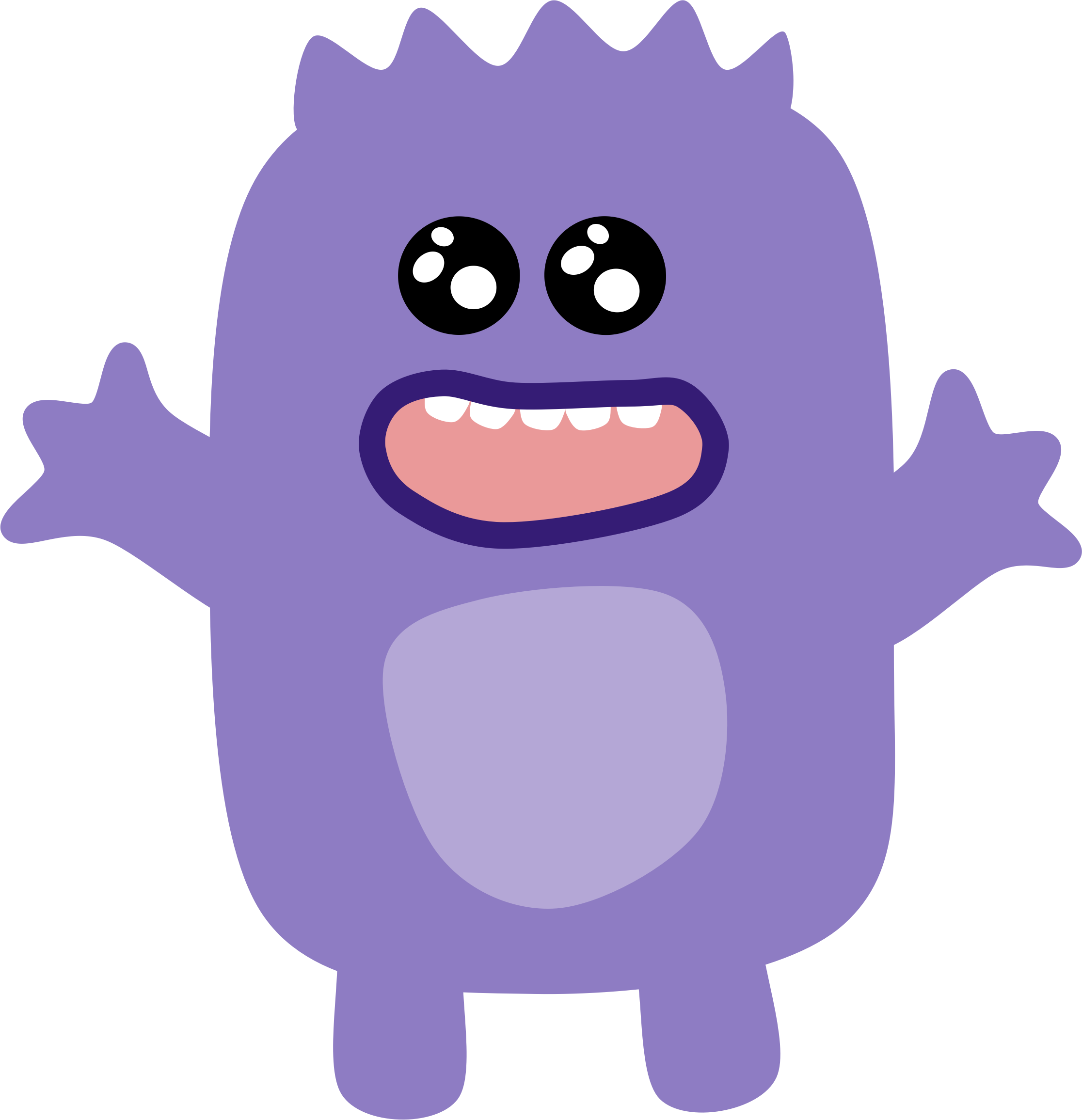 Vector monsters art. Collection of monster