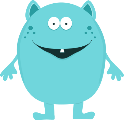 Cute monster png. Clipart for kids clip